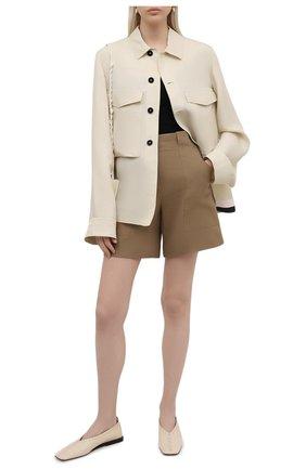 Женские льняные шорты LORO PIANA коричневого цвета, арт. FAL0703 | Фото 2