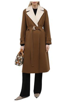 Женский хлопковый тренч LORO PIANA коричневого цвета, арт. FAL5617 | Фото 2