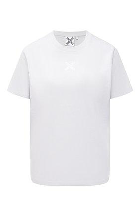 Женская хлопковая футболка KENZO серого цвета, арт. FB52TS9144SK | Фото 1