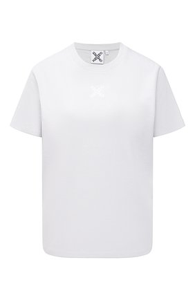 Женская хлопковая футболка kenzo sport KENZO серого цвета, арт. FB52TS9144SK   Фото 1