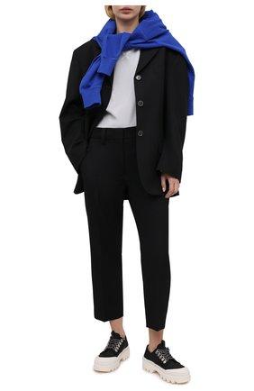 Женская хлопковая футболка KENZO серого цвета, арт. FB52TS9144SK | Фото 2