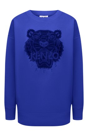 Женский хлопковый свитшот KENZO синего цвета, арт. FB52SW9224XF   Фото 1