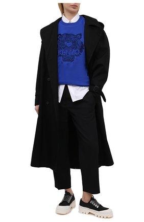Женский хлопковый свитшот KENZO синего цвета, арт. FB52SW9224XF | Фото 2