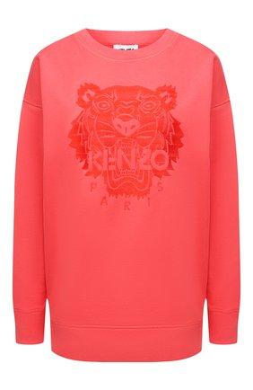 Женский хлопковый свитшот KENZO красного цвета, арт. FB52SW9224XF | Фото 1