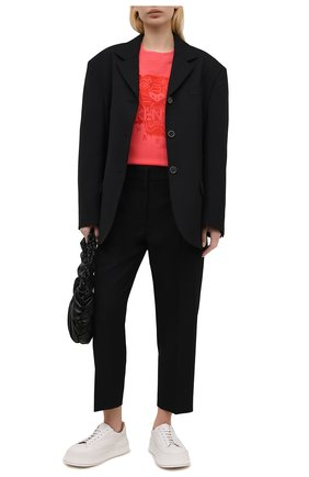 Женский хлопковый свитшот KENZO красного цвета, арт. FB52SW9224XF | Фото 2