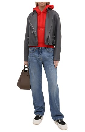 Женский хлопковое худи KENZO красного цвета, арт. FB52SW7774ML | Фото 2