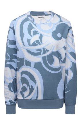 Женский хлопковый свитшот KENZO голубого цвета, арт. FB52SW6224ML | Фото 1