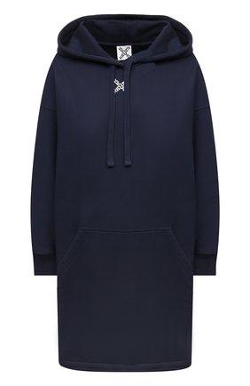Женское хлопковое платье KENZO темно-синего цвета, арт. FB52R07834MS | Фото 1