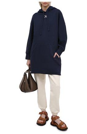 Женское хлопковое платье kenzo sport KENZO темно-синего цвета, арт. FB52R07834MS   Фото 2