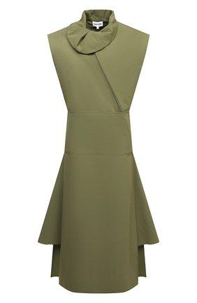 Женское хлопковое платье KENZO хаки цвета, арт. FB52R00349SA | Фото 1