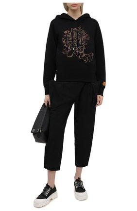 Женские брюки KENZO черного цвета, арт. FB52PA0315AI   Фото 2