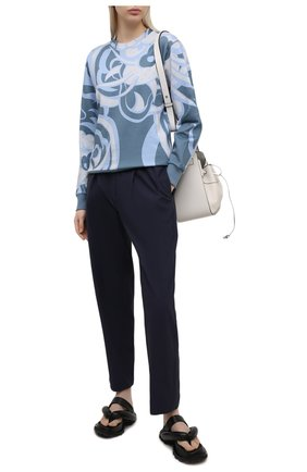 Женские брюки KENZO синего цвета, арт. FB52PA0275AI   Фото 2