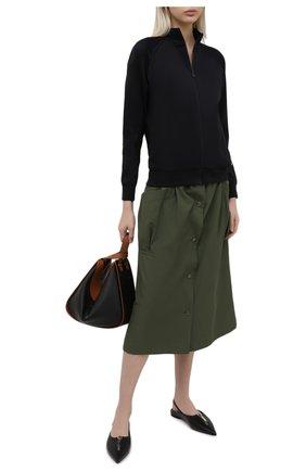 Женская юбка KENZO хаки цвета, арт. FB52JU1545AI | Фото 2