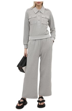 Женские брюки KENZO серого цвета, арт. FA62PA7284ME   Фото 2