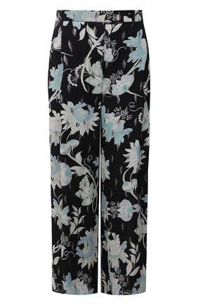 Женские шелковые брюки GIORGIO ARMANI разноцветного цвета, арт. 1SHPP0G1/T02AN | Фото 1