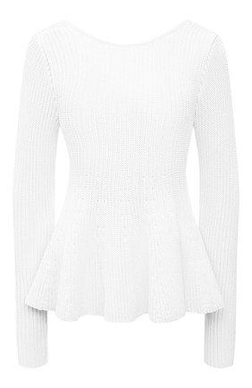 Женский пуловер из вискозы ALEXANDRE VAUTHIER белого цвета, арт. 211KT01401 1419-211 | Фото 1