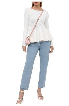 Женский пуловер из вискозы ALEXANDRE VAUTHIER белого цвета, арт. 211KT01401 1419-211 | Фото 2