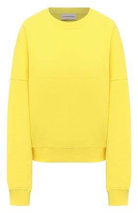 Женский хлопковый свитшот ALEXANDRE VAUTHIER желтого цвета, арт. 211T01212B 1004B-204   Фото 1