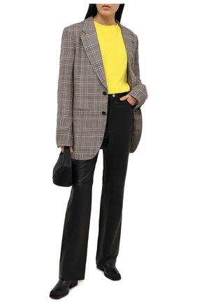 Женский хлопковый свитшот ALEXANDRE VAUTHIER желтого цвета, арт. 211T01212B 1004B-204   Фото 2