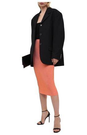 Женская юбка из вискозы ALEXANDRE VAUTHIER розового цвета, арт. 211SK1404B 1029B-202 | Фото 2