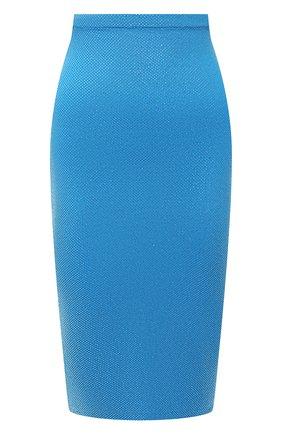 Женская юбка из вискозы ALEXANDRE VAUTHIER голубого цвета, арт. 211SK1404B 1029B-202 | Фото 1