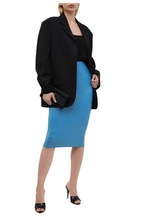 Женская юбка из вискозы ALEXANDRE VAUTHIER голубого цвета, арт. 211SK1404B 1029B-202 | Фото 2