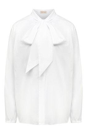 Женская хлопковая блузка ALEXANDRE VAUTHIER белого цвета, арт. 211SH1350 0191-1008 | Фото 1