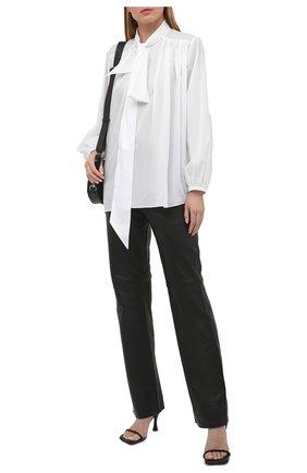 Женская хлопковая блузка ALEXANDRE VAUTHIER белого цвета, арт. 211SH1350 0191-1008 | Фото 2