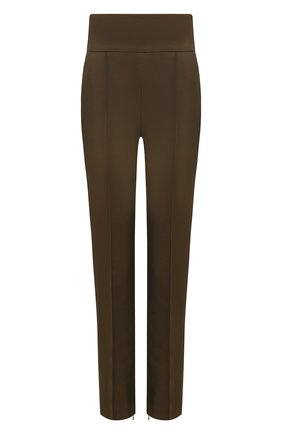 Женские брюки из вискозы и хлопка ALEXANDRE VAUTHIER хаки цвета, арт. 211PA900 1408-211 | Фото 1