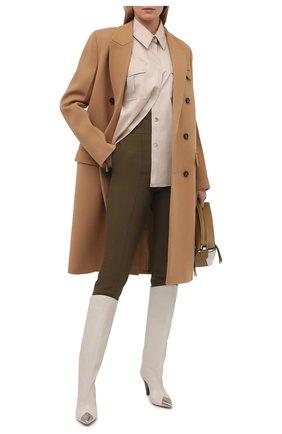 Женские брюки из вискозы и хлопка ALEXANDRE VAUTHIER хаки цвета, арт. 211PA900 1408-211 | Фото 2