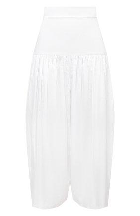 Женские хлопковые брюки ALEXANDRE VAUTHIER белого цвета, арт. 211PA1404 0191-1008 | Фото 1