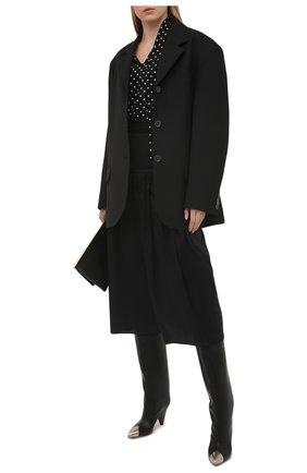 Женские хлопковые брюки ALEXANDRE VAUTHIER черного цвета, арт. 211PA1404 0191-1008 | Фото 2