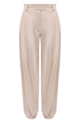 Женские шелковые брюки ALEXANDRE VAUTHIER бежевого цвета, арт. 211PA1351 1409-211 | Фото 1