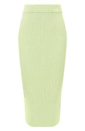 Женская юбка из вискозы ALEXANDRE VAUTHIER светло-зеленого цвета, арт. 211KSK1400 1419-211 | Фото 1