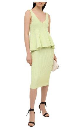 Женская юбка из вискозы ALEXANDRE VAUTHIER светло-зеленого цвета, арт. 211KSK1400 1419-211 | Фото 2