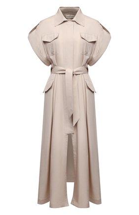 Женское шелковое платье ALEXANDRE VAUTHIER бежевого цвета, арт. 211DR1447 1409-211 | Фото 1
