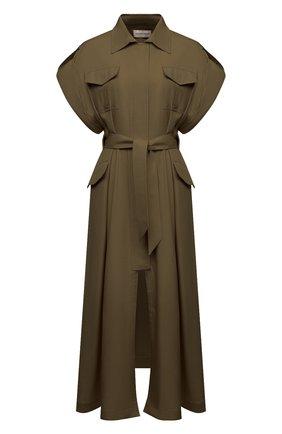 Женское шелковое платье ALEXANDRE VAUTHIER хаки цвета, арт. 211DR1447 1409-211 | Фото 1