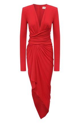 Женское платье из вискозы ALEXANDRE VAUTHIER красного цвета, арт. 211DR1411 1029-202   Фото 1