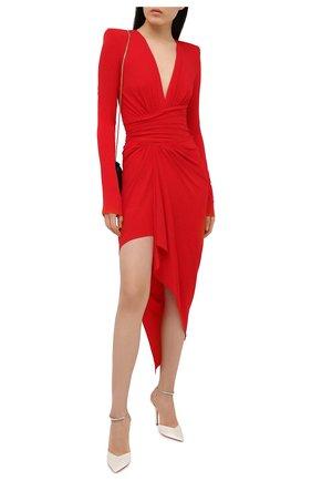 Женское платье из вискозы ALEXANDRE VAUTHIER красного цвета, арт. 211DR1411 1029-202   Фото 2