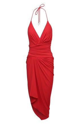 Женское платье из вискозы ALEXANDRE VAUTHIER красного цвета, арт. 211DR1409 1029-202 | Фото 1
