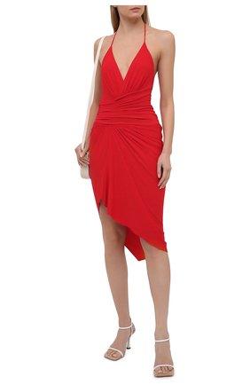 Женское платье из вискозы ALEXANDRE VAUTHIER красного цвета, арт. 211DR1409 1029-202 | Фото 2