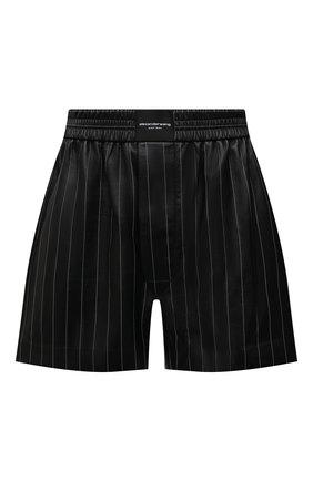 Женские кожаные шорты ALEXANDER WANG черного цвета, арт. 1WC2214366 | Фото 1