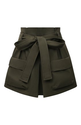 Женские шорты из хлопка и шерсти REDVALENTINO хаки цвета, арт. VR3RFE35/4R9 | Фото 1