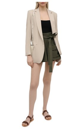 Женские шорты из хлопка и шерсти REDVALENTINO хаки цвета, арт. VR3RFE35/4R9 | Фото 2