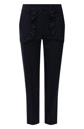 Женские брюки из хлопка и шерсти REDVALENTINO темно-синего цвета, арт. VR3RBD55/5M6 | Фото 1