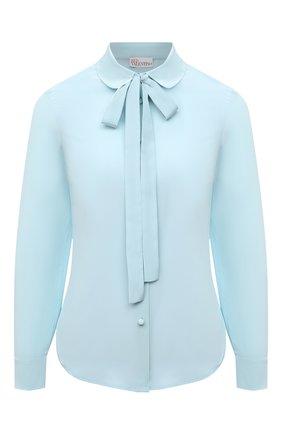 Женская шелковая блузка REDVALENTINO голубого цвета, арт. VR0ABF50/48P | Фото 1
