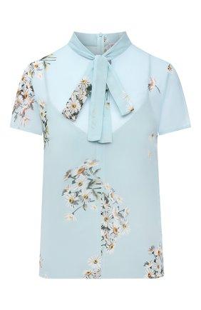 Женская блузка REDVALENTINO голубого цвета, арт. VR0AAC45/5SC | Фото 1