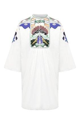 Женское хлопковое платье VALENTINO белого цвета, арт. VB3VAV255DN | Фото 1
