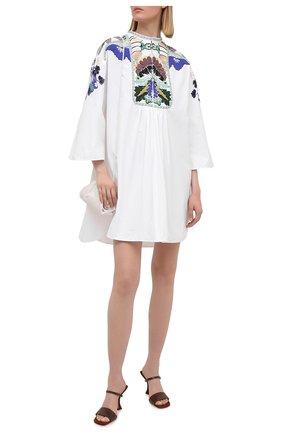 Женское хлопковое платье VALENTINO белого цвета, арт. VB3VAV255DN | Фото 2