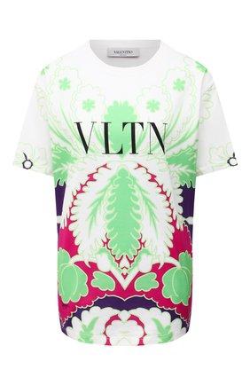 Женская хлопковая футболка VALENTINO разноцветного цвета, арт. VB3MG11W6AK   Фото 1
